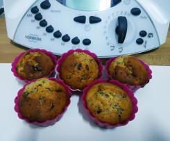 Muffins banane chocolat légers et moelleux