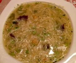 Soupe chinoise aux legumes verts