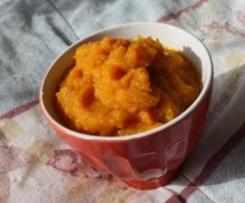 Purée de carottes et de radis rose (sans gluten et sans lait) {6-12 mois}