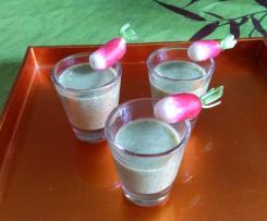 soupe froide de fanes de radis