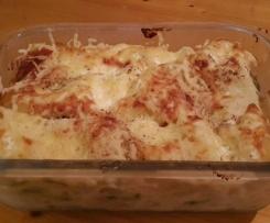 Lasagnes courgettes saumons chevre