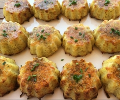 muffins pomme de terre-jambon-fromage