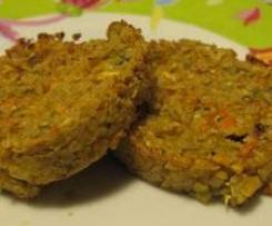 Galettes végétales de légumes aux flocons de quinoa, à indice glycémique bas