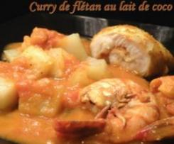 Curry de Flétan au lait de coco