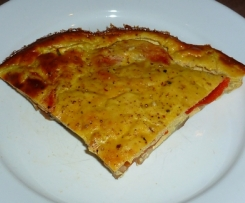 """""""Gâteau"""" d'aubergine tomate et thon au fromage blanc"""
