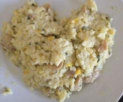Risotto poivron/courgette/champignons