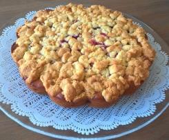 Crumble cake aux framboises