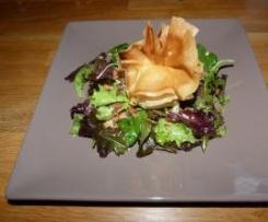 Aumonière de Saint Marcelin sur salade aux Lardons