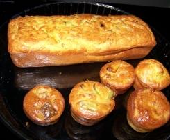 cake poireaux / noix de saint jacques