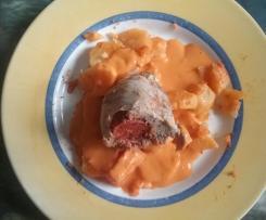 Filet mignon  au chorizo et sa sauce poivron/chorizo