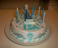 """Gâteau d'anniversaire """"La reine des neiges"""""""