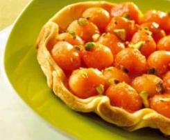 Tatin de melon et pistaches grillées