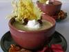 Soupe de maïs et champignons au saucisson