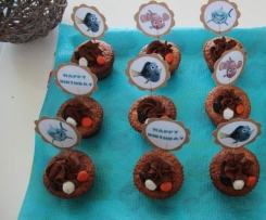 Sweet Table Nemo - Cupcakes vanille topping chocolat - Sans oeuf, spécial allergiques
