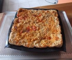 Gâteau de pain perdu salé chorizo/poivron/mimolette