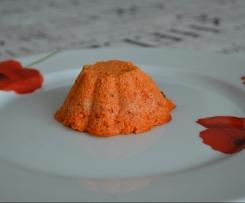 Flans poivron rouge et fromage frais