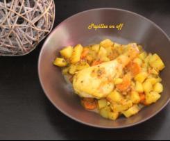 Tajine de pilons de poulet aux légumes