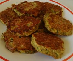 Galettes brocoli pois chiches