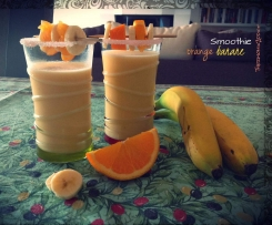 Smoothie orange-banane