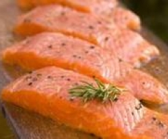 Pave de saumon sauce ail, échalote