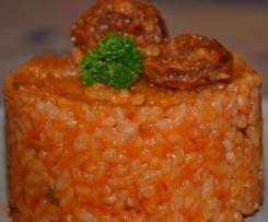Risotto au chorizo et à la tomate