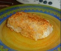 Dos de cabillaud en croute de parmesan et Comté (crumble)