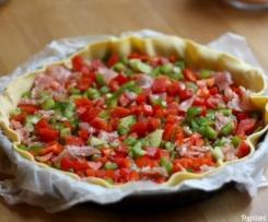 tarte aux poivrons sans gluten ni lactose