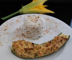 Courgettes farcies exotiques (poisson et noix de coco)