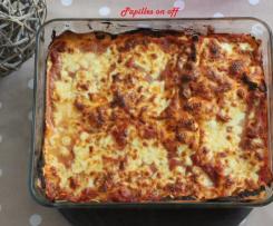 Lasagnes aux légumes grillés et thon au pesto rosso