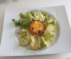 Mini flan courge butternut et morbier