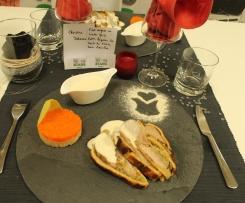 Filet mignon en croûte farci, petits légumes des hauts de France, sauce maroilles