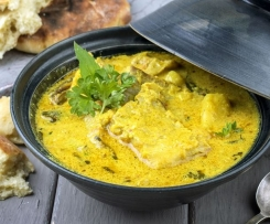 Variante Curry de poisson