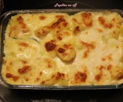 Gratin de courgettes et pommes de terre à la mozzarella