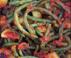 Haricots verts à la sauce tomate