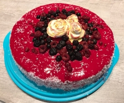 Entremet aux fruits rouges sans gluten