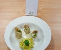 cannelloni de saint jacques et sa fondue de poireaux