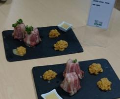 Canelé Forestier, Ecrasé de Panais et Patate Douce, Sauce aux Cèpes
