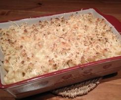 Gratin de pâtes aux courgettes et saumon