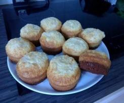 Muffins chocolat noir /nuage chocolat blanc Coco