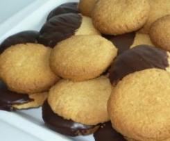 Gros sablés noix de coco-chocolat