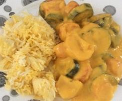 Escalope de poulet riz et legumes en sauce (light)