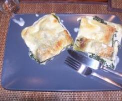 Lasagnes aux épinards et au chèvre
