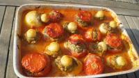 tomates et pommes de terre farcies