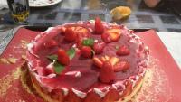 fraisier mascarpone basilic