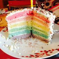 Mon rainbow cake !
