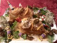 bûches de Noël. .. comme la recette...decoration nature