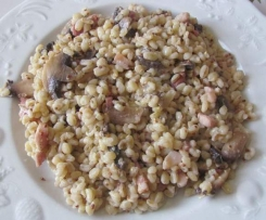 Blesotto lardons champignons
