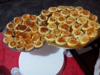 Blinis sur la table de noël