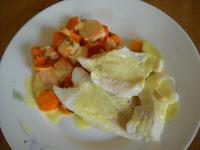 Filets de cabillaud et ses carottes vichy, créme au curry